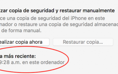 iTunes copia de seguridad mas reciente