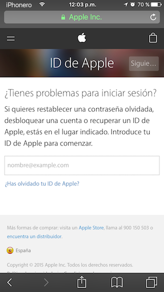recuperar contrasena id apple icloud iforgot.apple.com