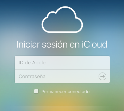 icloud iniciar sesion