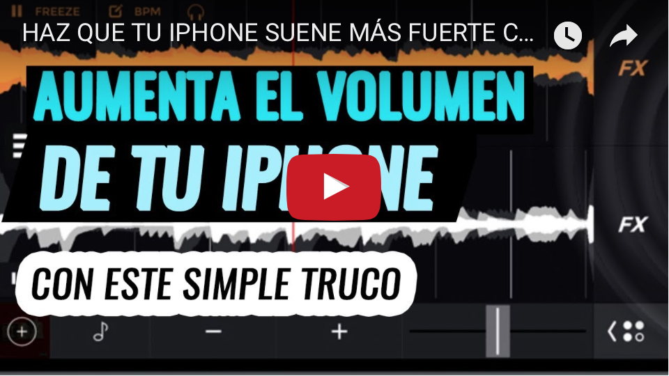 AUMENTAR EL VOLUMEN DEL IPHONE VIDEO
