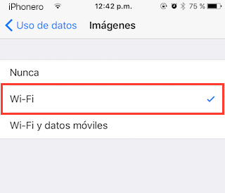 reducir datos moviles whatsapp iphone 4