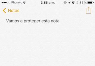 proteger notas