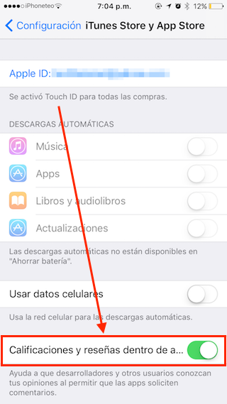 calificaciones y resenas ios 10-3
