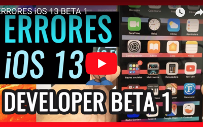 Errores ios 13 developer beta 1